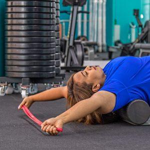 Curvalicious Ladies Gym Dubai Stretch Chest Back Health