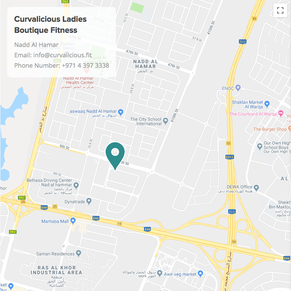 Map to Curvalicious Ladies Only Gym in Nadd Al Hamar Dubai